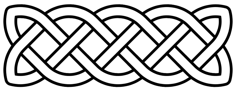 ... some insight into Celtic knot band that caps the bottom of the sleeve